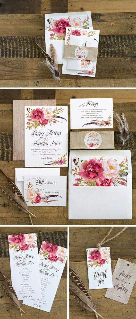 Floral Wedding Invitations Wedding Ideas Boda