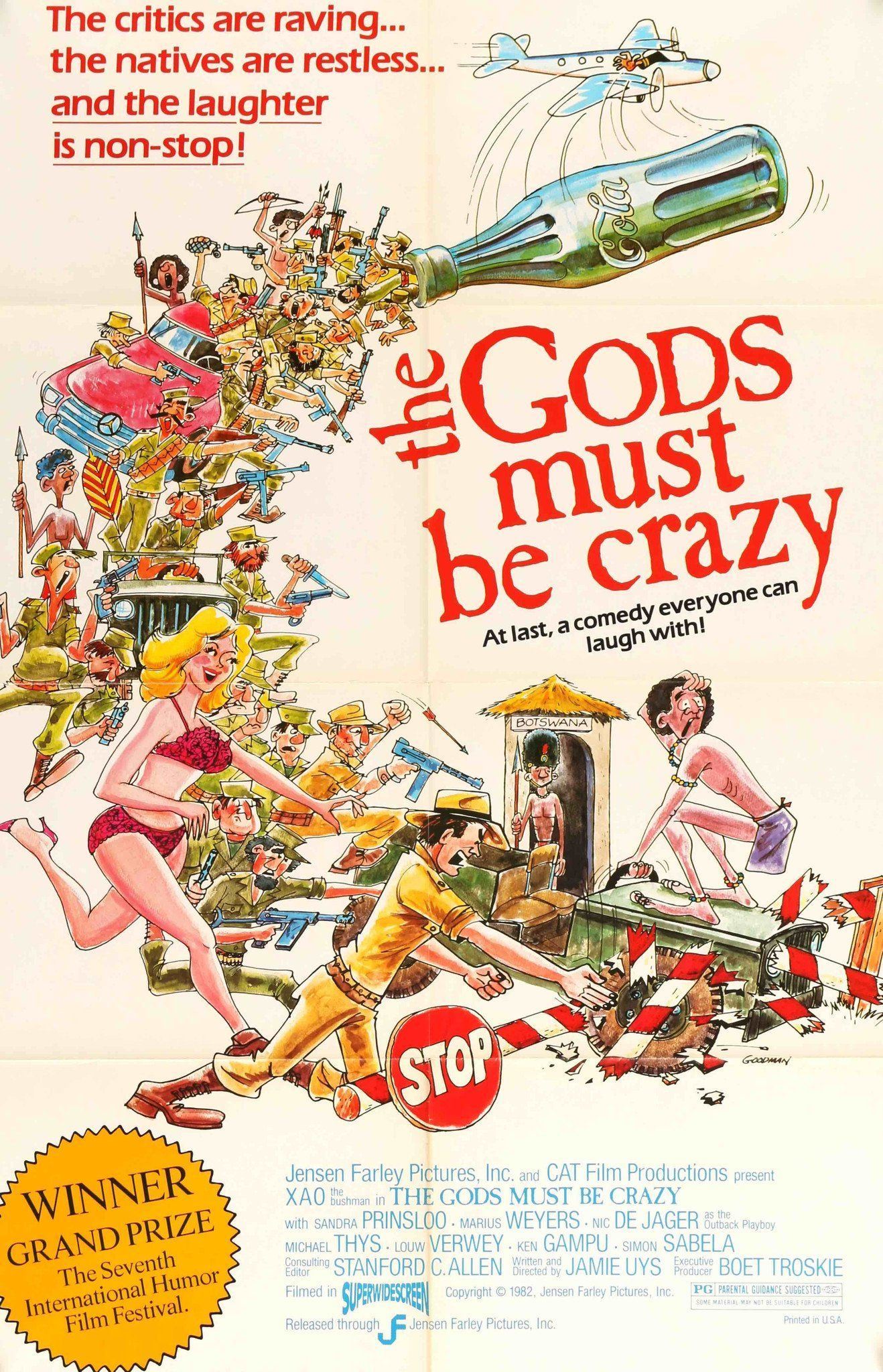 Gods Must Be Crazy (1980) Old Movie Posters, Movie Poster Art, Film