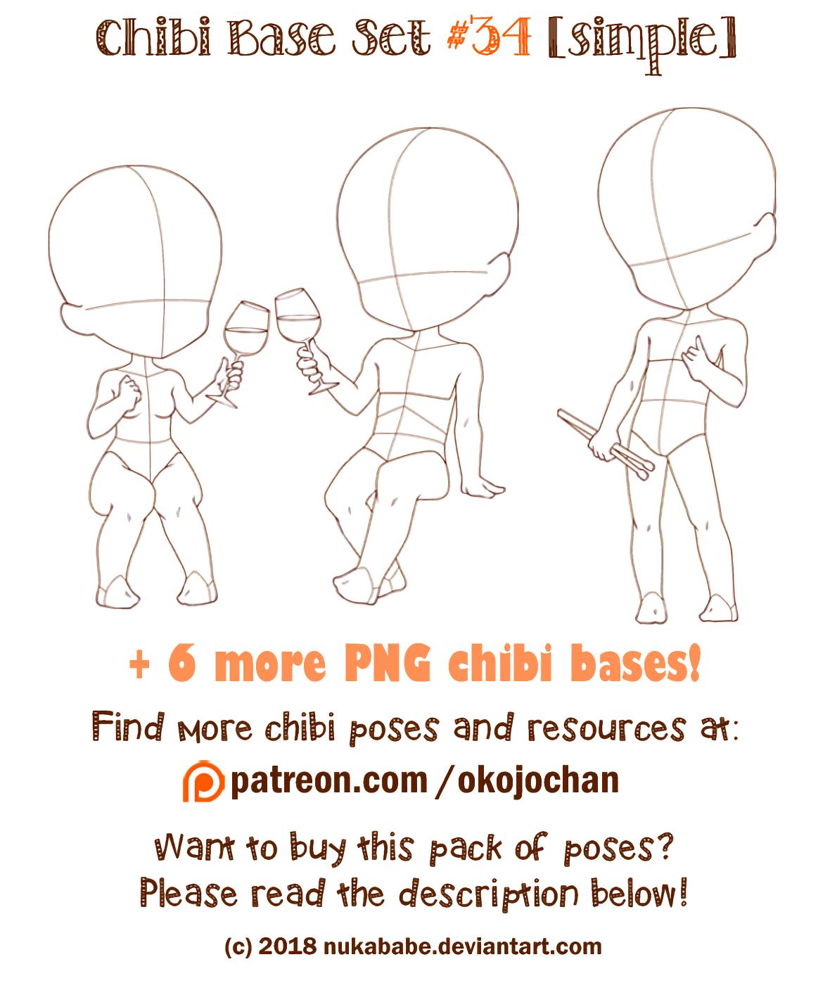 How to draw Chibi. Chibi Pose! Pose reference, Chibi