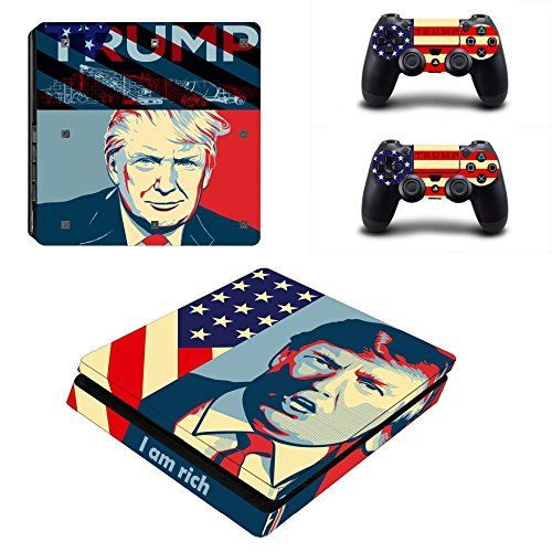 Mightystickers donald trump us president ps4 slim console wrap cover skins vinyl sticker decal protective for