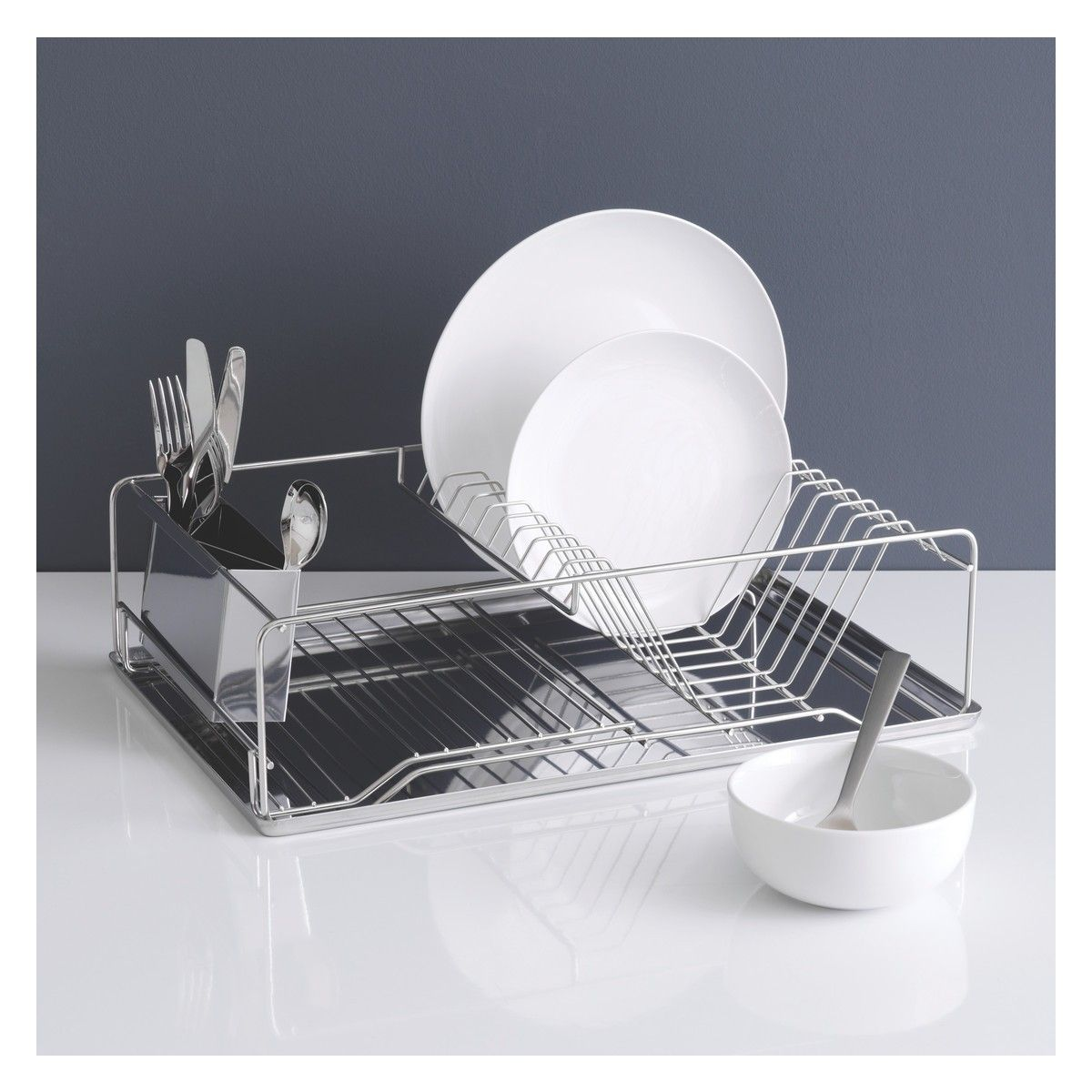 Sabatier Dish Rack Gorgeous Decker Stainless Steel Single Level Dish Drainer  Dish Drainers Inspiration