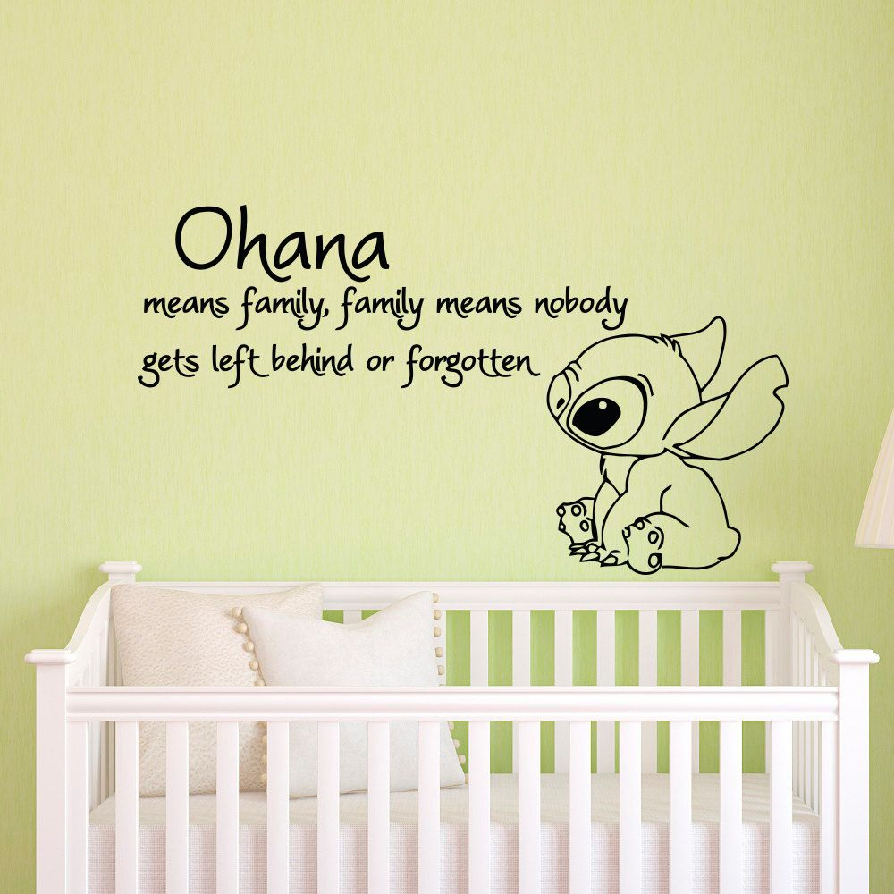 Ohana Means Family Means Nobody Get Left Behind or Forgotten Lilo ...