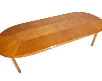 Mid Century Burled Maple Dining Table Made in Sweden