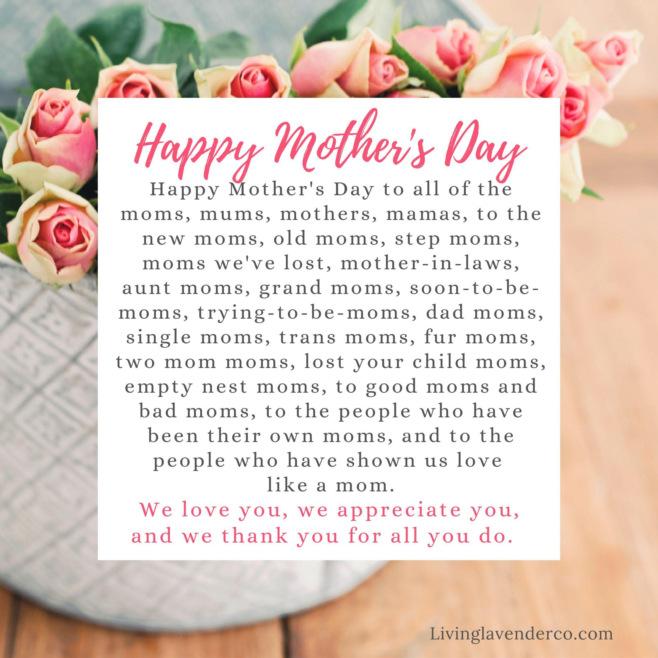 Happy Mother S Day Happy Mothers Day Mothers Day Empty Nest Mom