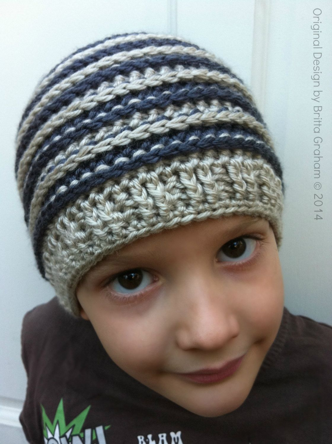 Unisex crochet hat pattern - Ribbed Beanie P306 using DK weight (US    Light 3 AUS   8ply) yarn 69d9eab4d7c