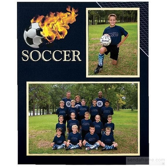 Soccer Player Team 7x5 3 X5 Memory Mates Cardstock Double Photo
