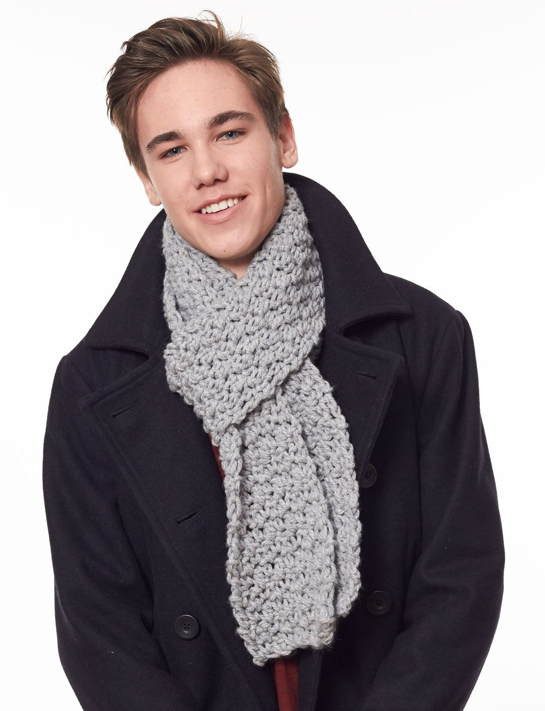 Simple scarf in solid or striped versions, great for beginners! free ...