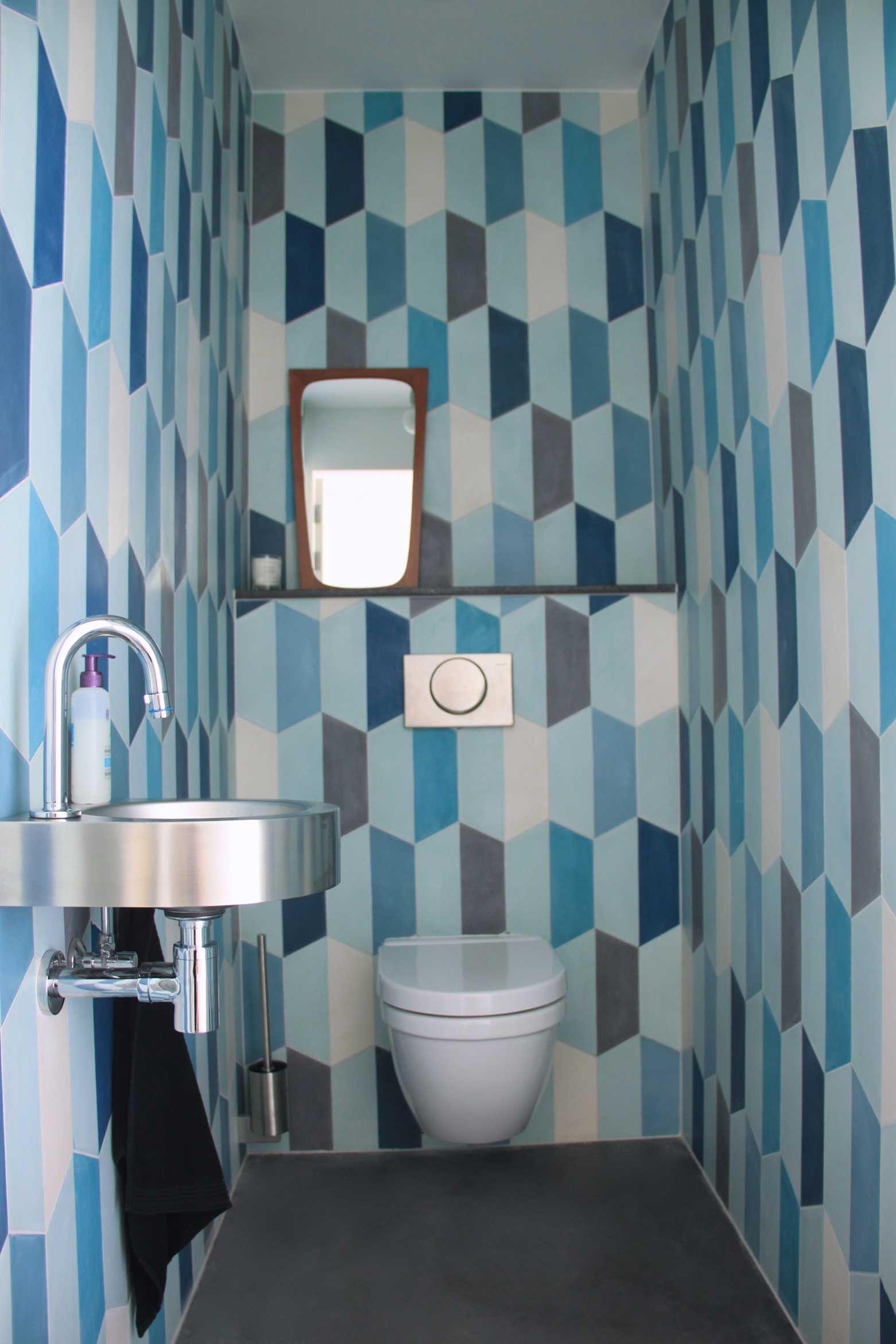 So cool. Demi Hex Long cement tiles from popham design:: handmade in ...