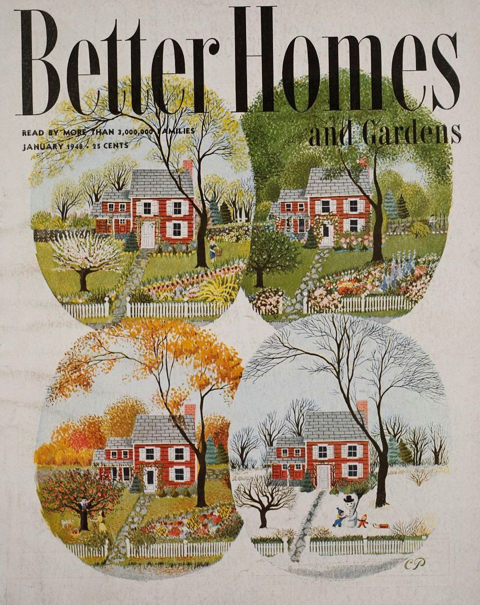 Vintage Bhg Cover January 1948 1948 Good Year Price 25 Vintage Pinterest Vintage
