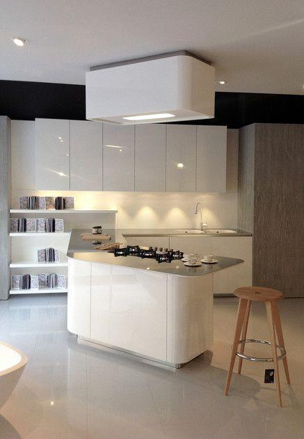 Cucina effeti modello sinuosa laccato lucido bianco opaco - Cucina bianco lucido ...