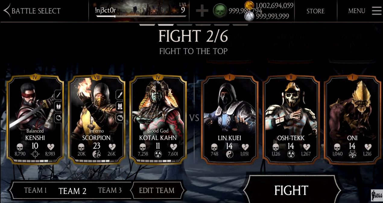 MORTAL KOMBAT X Hack MOD APK+DATA Unlimited Energy & Money