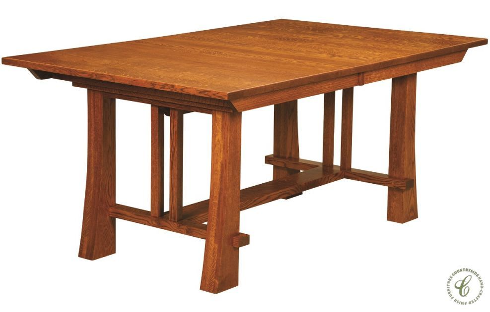 Harding Craftsman Style Trestle Table Countryside Amish