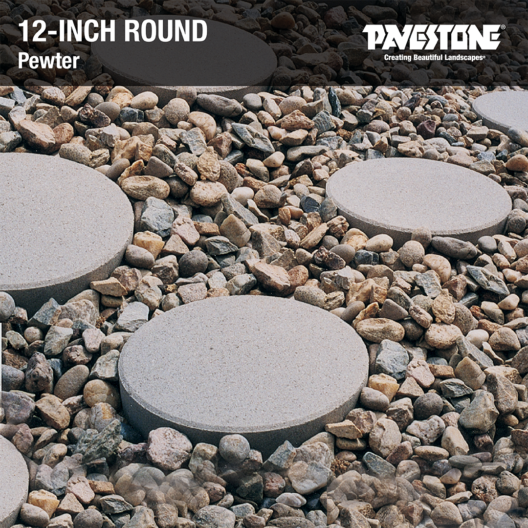 Use The Pavestone 12 In Round Red Concrete Step Stone To Build Outdoor Walkways And Pathways Pavestone 12inchround Step Stones Concrete Steps Stone Walkway