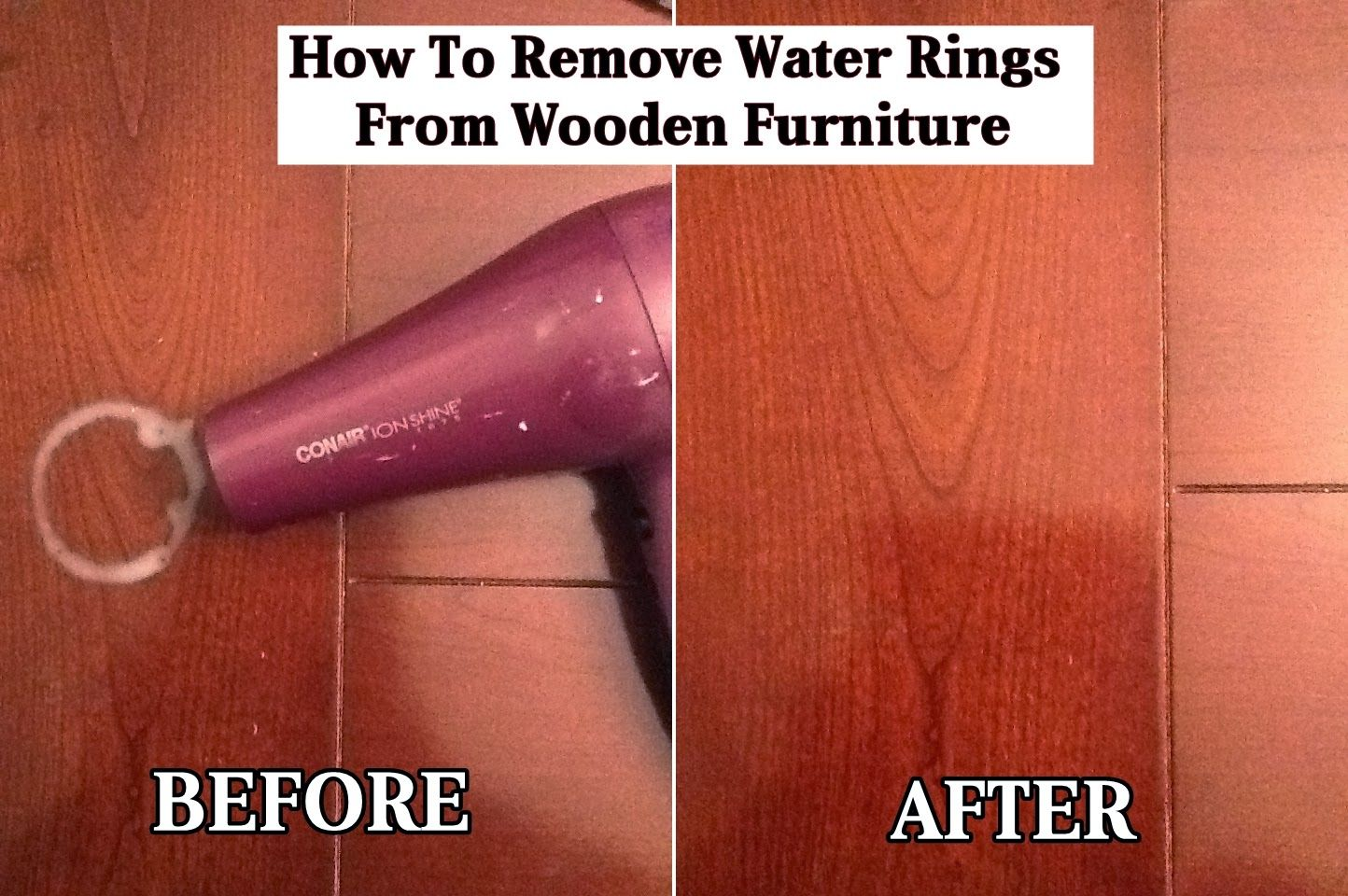 How to remove water rings from wooden furniture remove