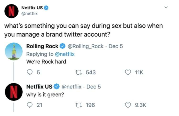 29 Responses To A Netflix Tweet From Other Brands That Are Surprisingly Filthy Netflix Popular Memes Right Now Popular Memes