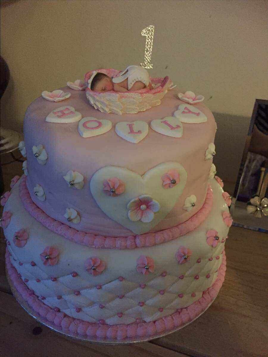2 tier baby angel angelversary birthday cake For you angel Pinterest
