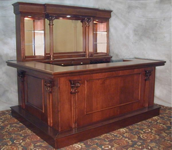 Staten Island Custom Wood Home Bar