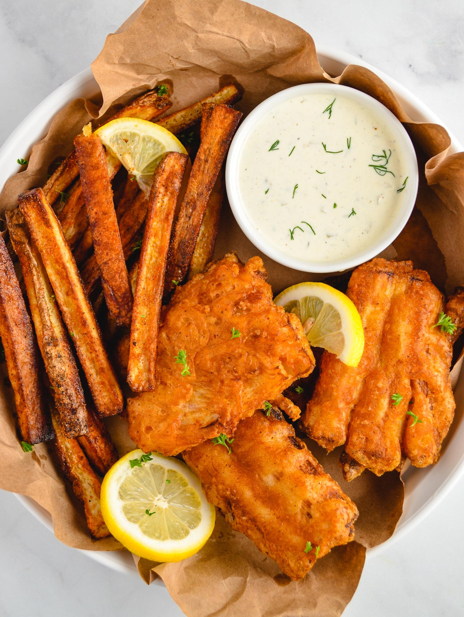 Vegan Fish And Chips Recipe With Images Vegan Fish And Chips Vegan Fish Vegan Meal Plans