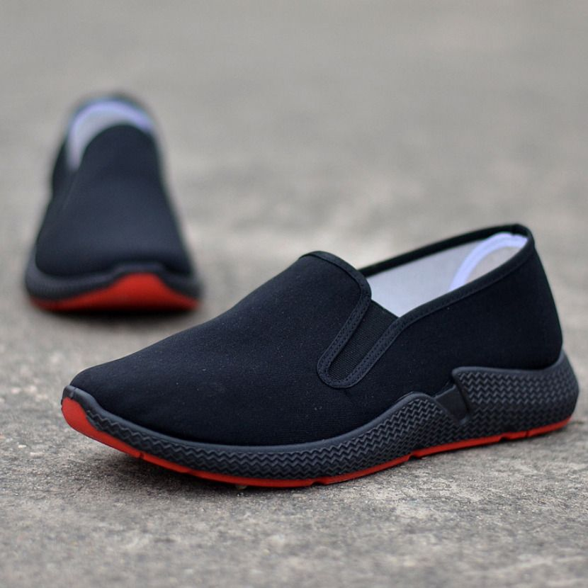 Casual Men Canvas Shoes Comfy Slip-on