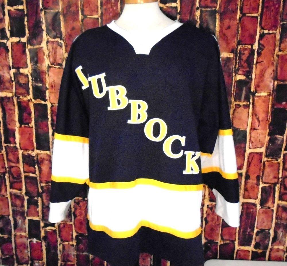 hot sale online 2e9e7 383cc LUBBOCK COTTON KINGS Vintage CHL Minor League Hockey Jersey ...