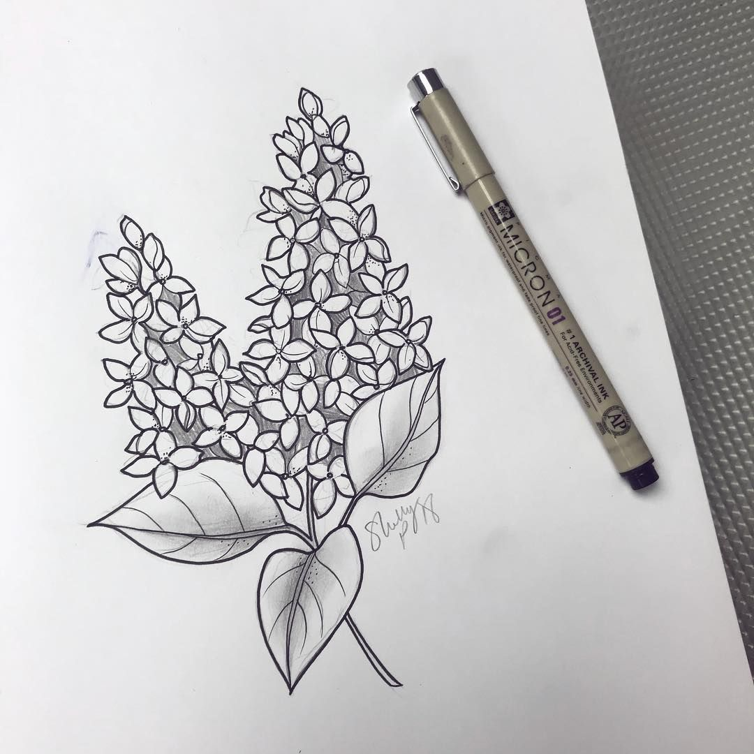 Lilacs Up For Grabs Would Look Nice On An Upper Arm Or Thigh Lilac Lilactattoo Flowertattoo Lilac Lilac Tattoo Line Work Tattoo Black And Grey Tattoos