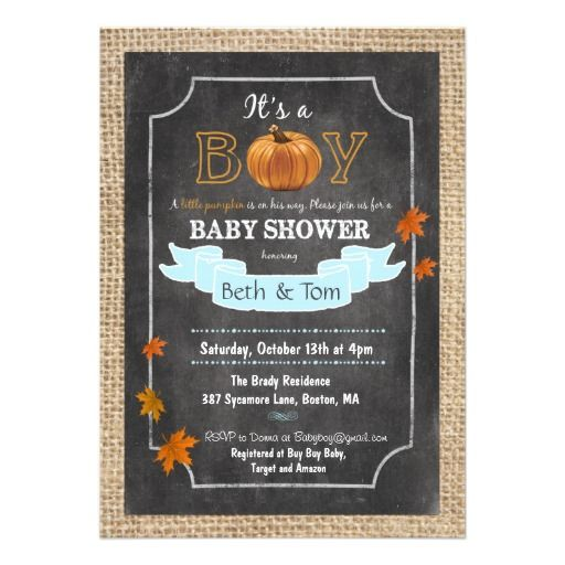 Fall autumn pumpkin baby boy shower invitation baby boy shower fall autumn pumpkin baby boy shower invitation filmwisefo