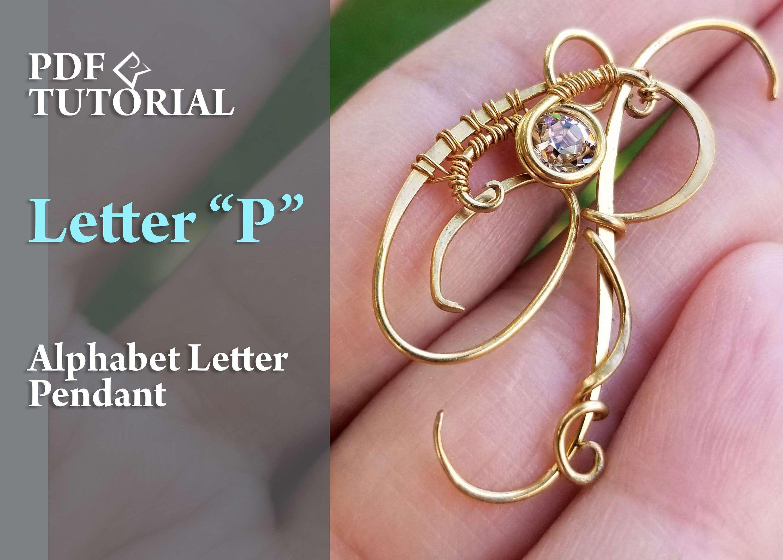 Alphabet letter Pendant P Wire wrap tutorial