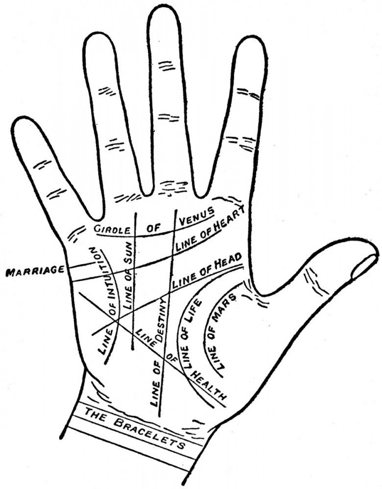 Entertainment Palmistry map Palmistry map of palm
