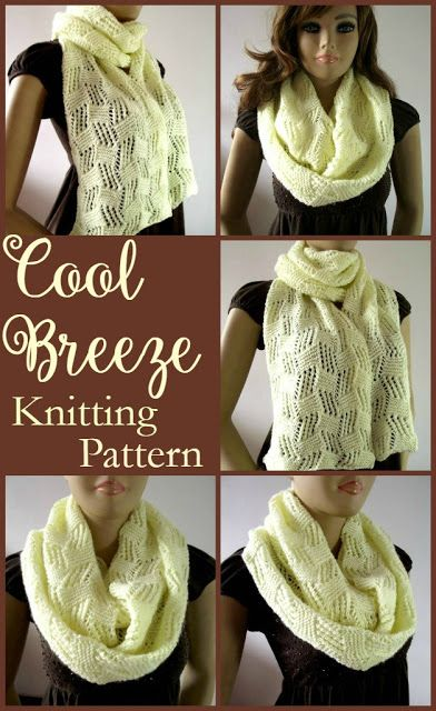 Liliacraftparty Cool Breeze Knitting Scarf Pattern Whisk It