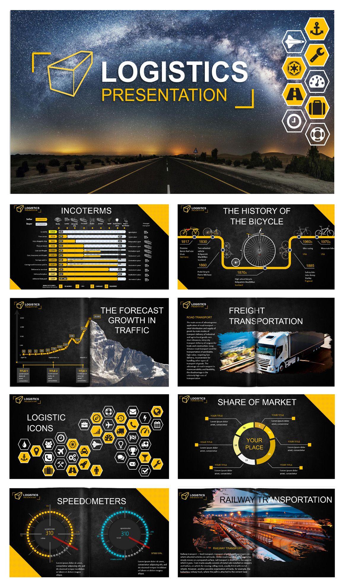 Logistics Powerpoint Template By Creative Art Studio On