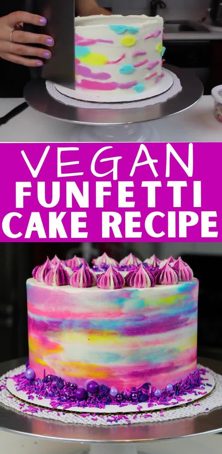 Photo of Vegan Funfetti Cake: Easy Recipe with Simple Ingredients