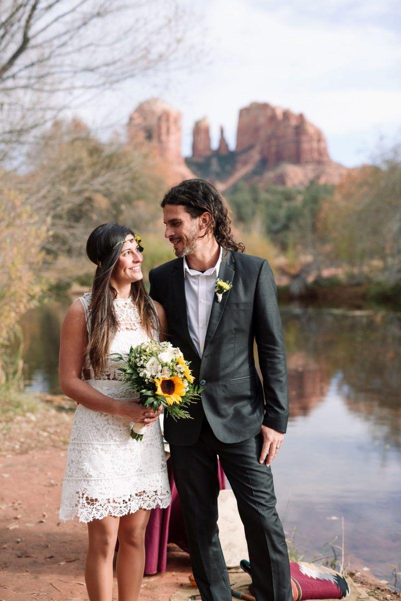 Native american wedding dress  Alex u Mauricio  Sedona Arizona