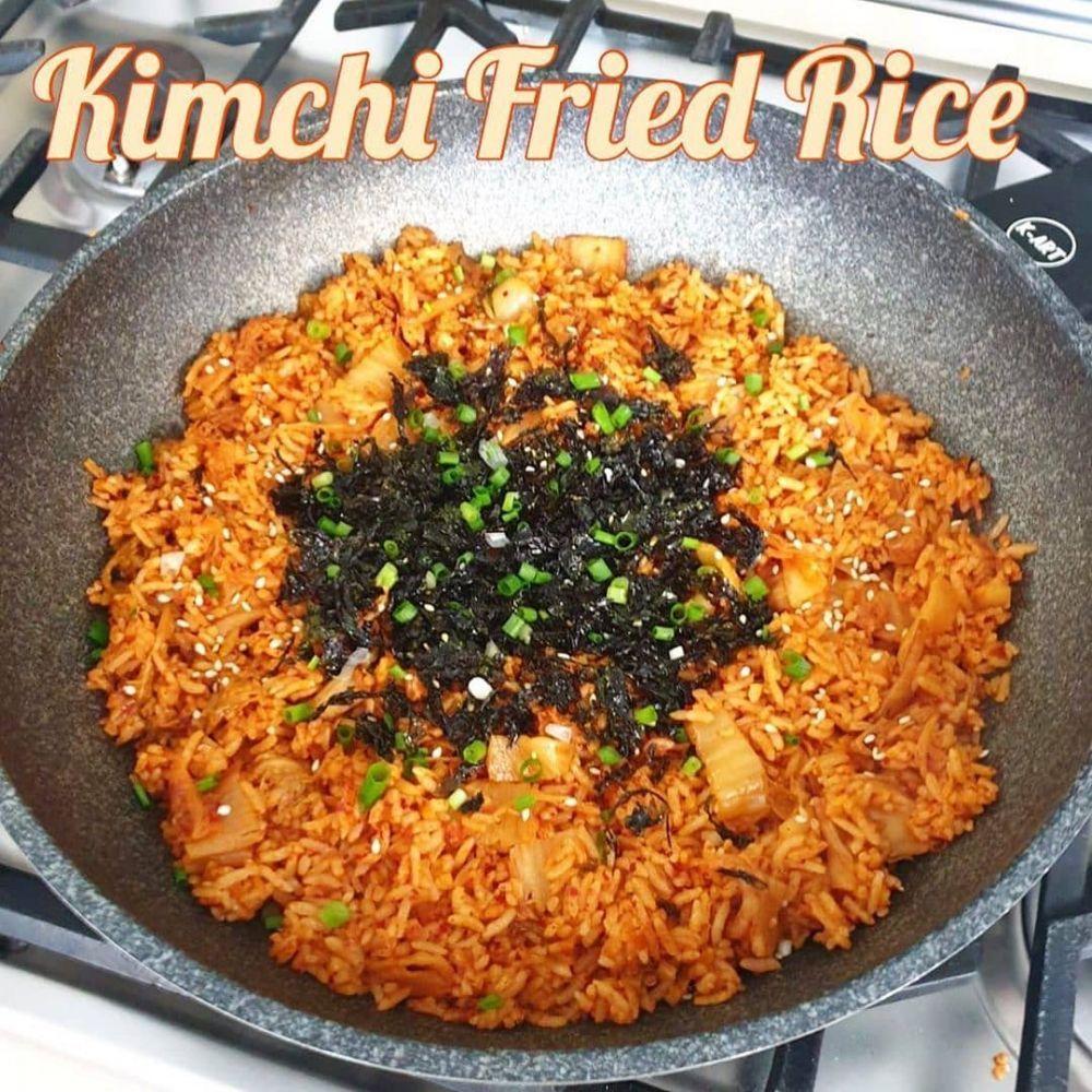 Resep Makanan Korea C 2020 Brilio Net Resep Makanan Korea Resep Masakan Nasi Goreng Kimchi