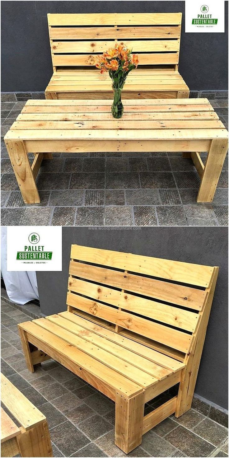 Recycled pallet outdoor furniture muebles pinterest for Muebles outdoor