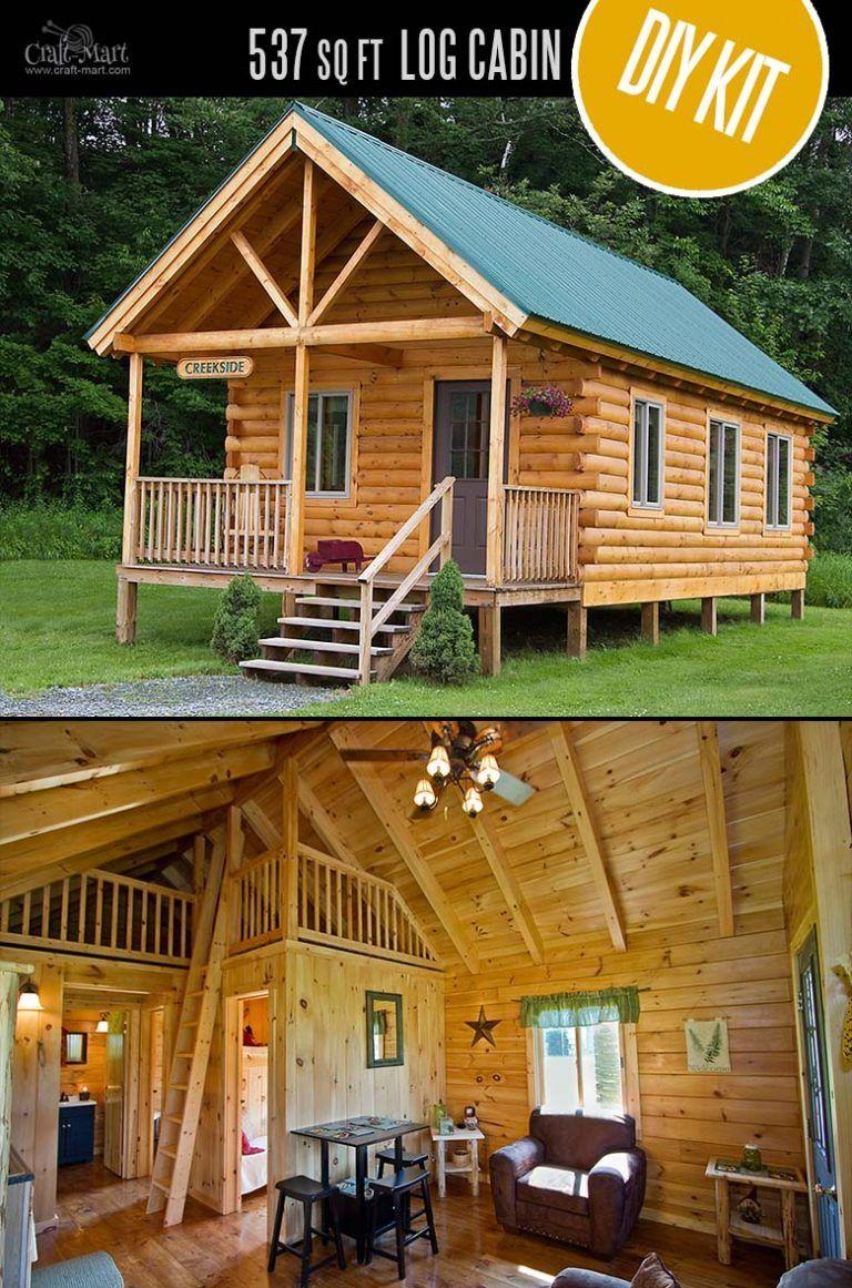 Tiny Log Cabin Kits Easy DIY Project Small log cabin