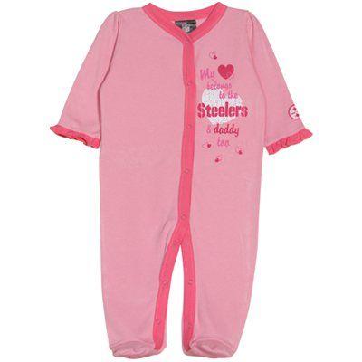 a8c6d760 Gerber Pittsburgh Steelers Infant Girls Sleep 'n Play Sleeper - Pink ...