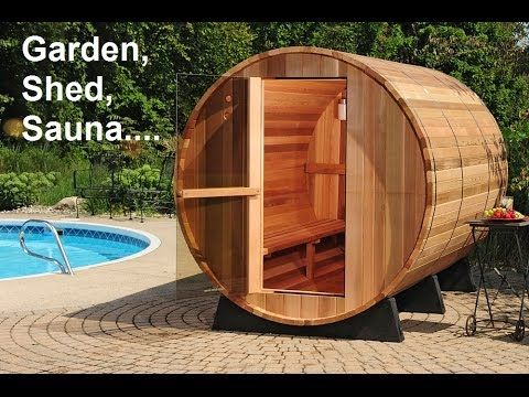 sj video cast how to build barrel sauna in 1 minute see. Black Bedroom Furniture Sets. Home Design Ideas