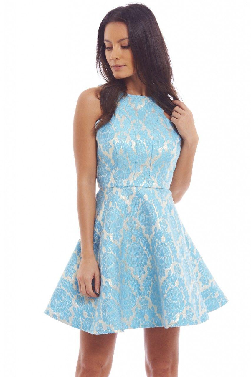 something blue metallic skater dress (http://shopmodmint.com/product ...