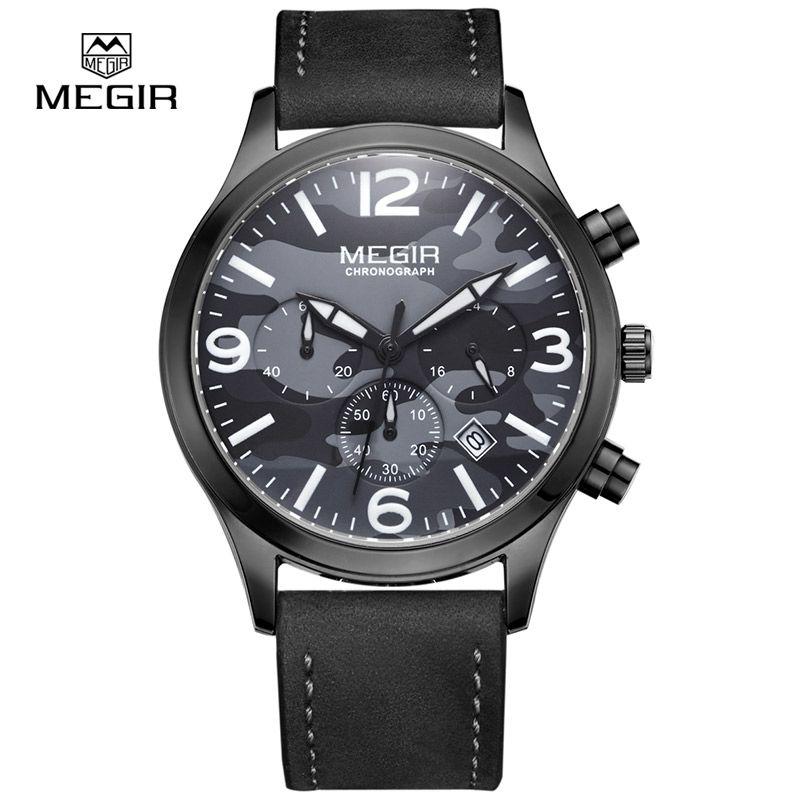 US $51.80 - MEGIR hot fashion military brand quartz watch man casual chronopragh luminous glow wristwatches for male waterproof hour men2016