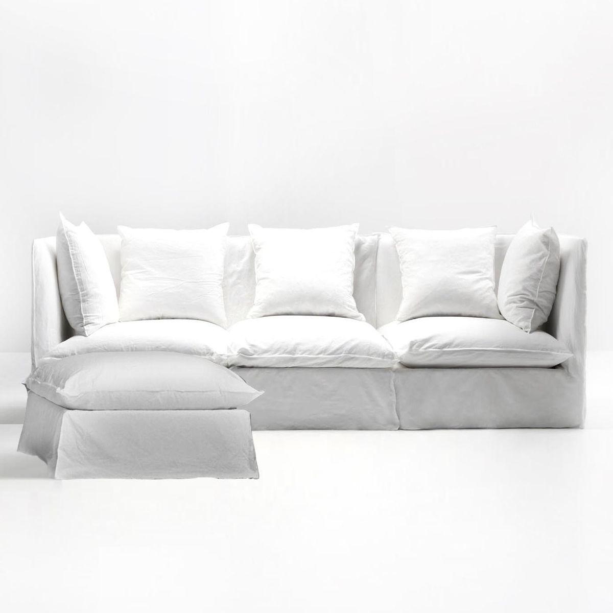 Ghost Sofa Ottoman Gervasoni Ghost Gervasoni Comfy Sofa Chair White Linen Sofa Ottoman Sofa