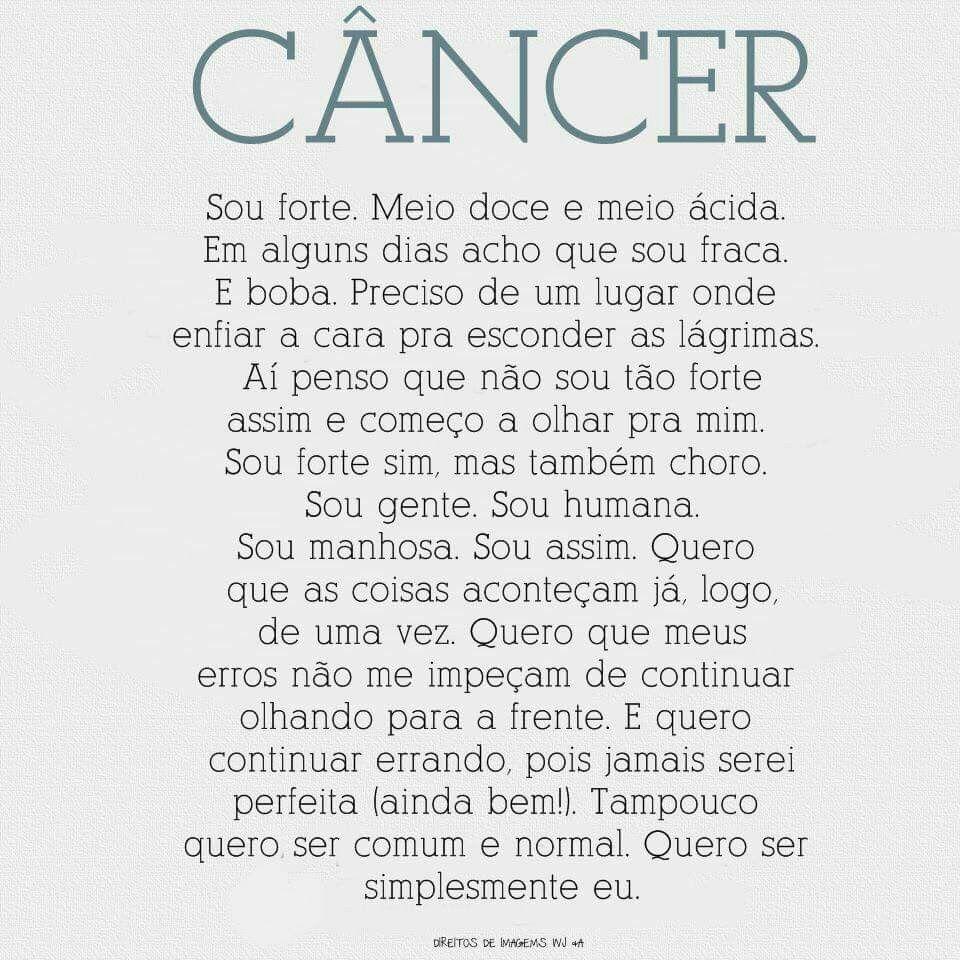 Pensamentos De Uma Canceriana Canceriana 3 Signo Cáncer Signos