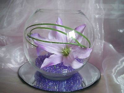Glass Fish Bowls For Table Decorations Magnificent Hire Of Large Glass Fish Bowl Vase Centrepiece Wedding Flowers Decorating Design