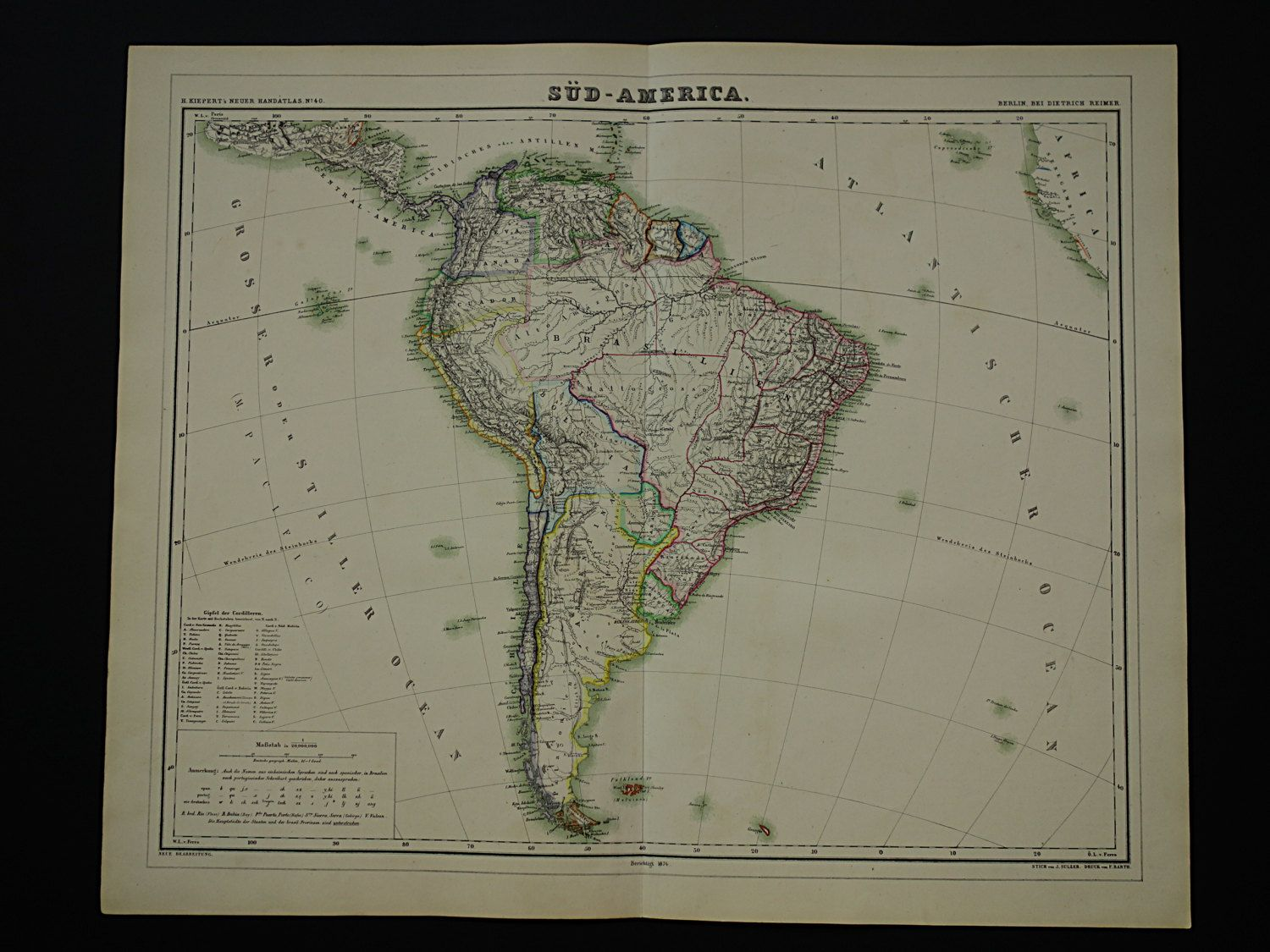 Large Map Of South America Continent Beautiful Original - Argentina map continent