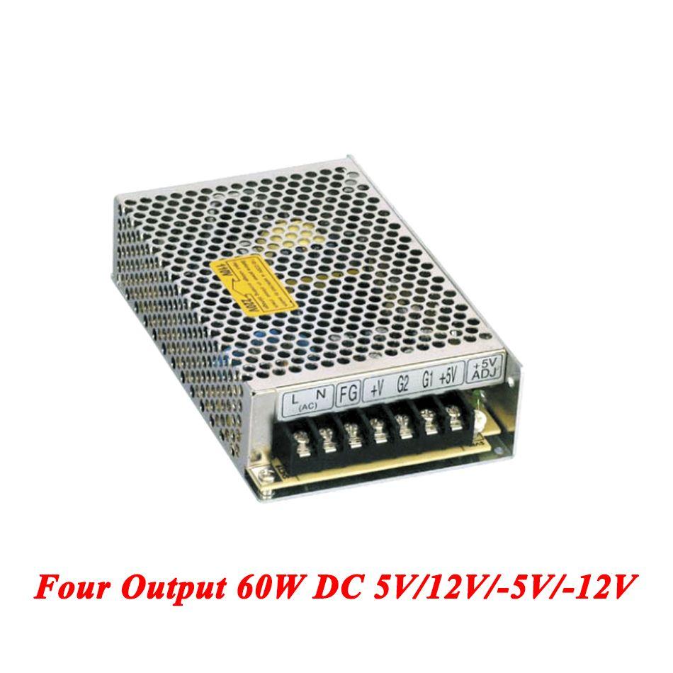 Q-60B Four Output Switching Power Supply 60W 5V/12V/-5V/-12V,ac-dc ...