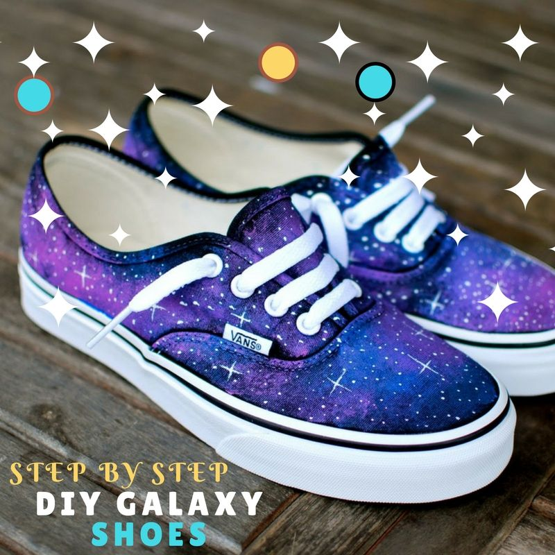 Diy Canvas Shoes Step By Step Diy Galaxy Shoes Canvas Shoes Diy Painted Shoes Diy Design Shoes Diy