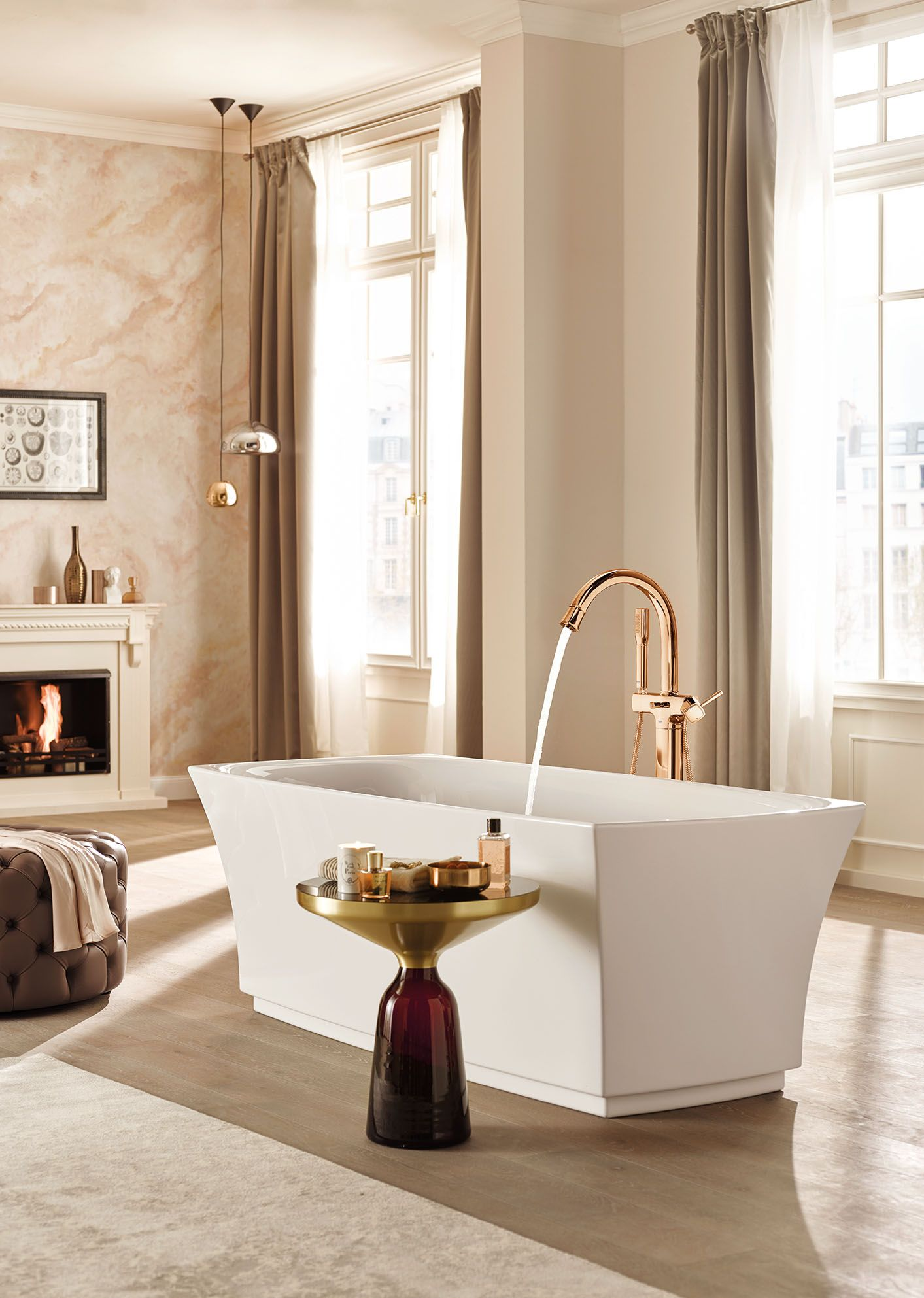 Create An Exclusive Feminine Bathroom In Classic Style With An