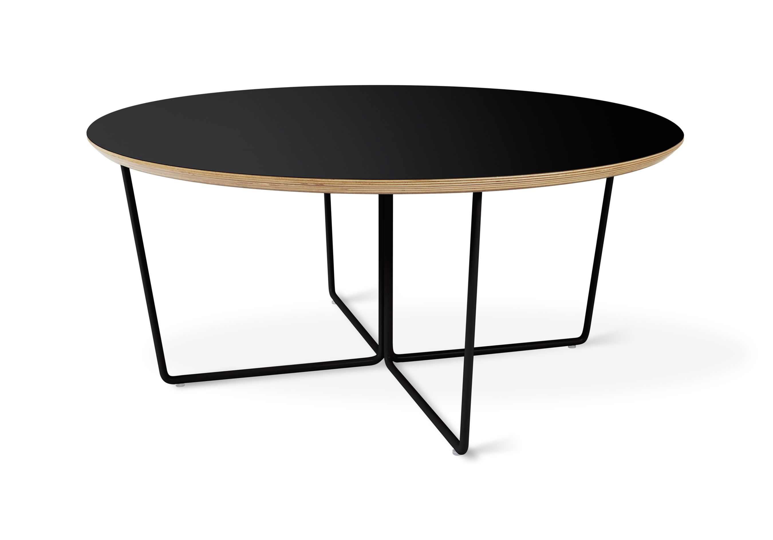 Array Coffee Table Round Black The Array Coffee Table Features - Geometric base coffee table