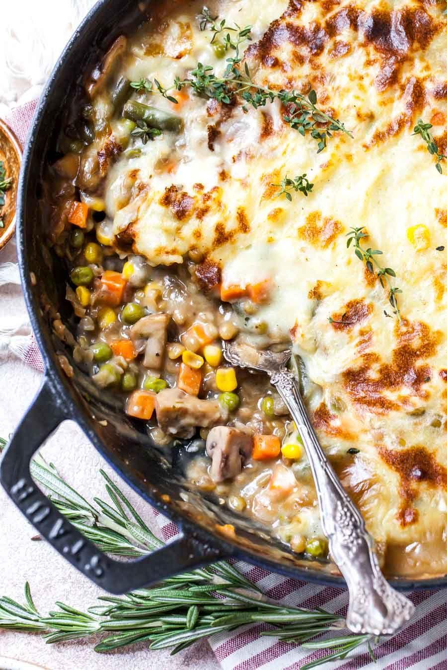 Vegetarian Shepherd S Pie With Lentils Recipe Lentil Dishes Vegetarian Shepherds Pie Shepherds Pie