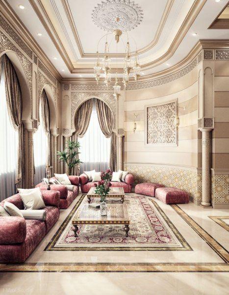 ديكور فخم لمجلس نسائي بأناقة الكنب المخمل Moroccan Decor Living Room Interior Design Arabic Decor