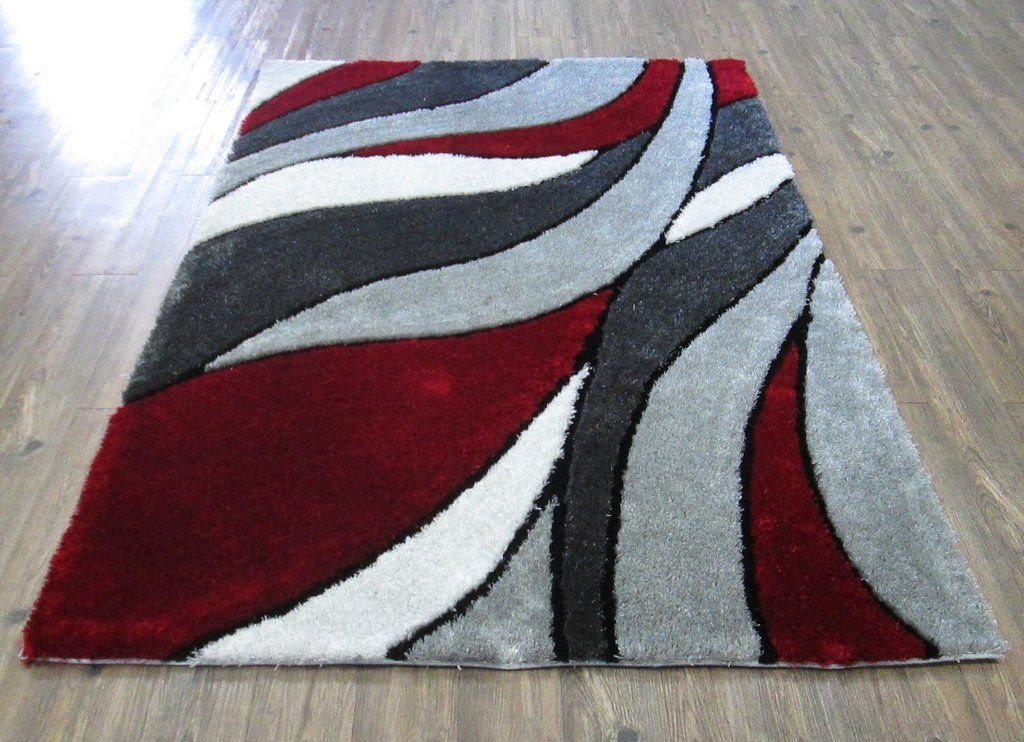 Formal Living Room Red Red Black Grey Area Rug Formalliving